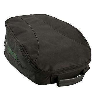 Izzo Nylon Zipped Water Resistant Mesh Panel Ventilated Black Golf Shoe Bag