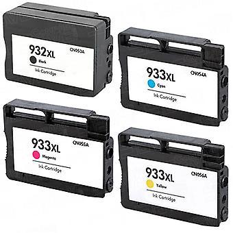 HP 932XL の RudyTwos 交換 + 933XL インク カートリッジ ブラック シアン マゼンタ ・黄色互換性 Officejet 6100、6600、6700、7110、7600、7610、7612