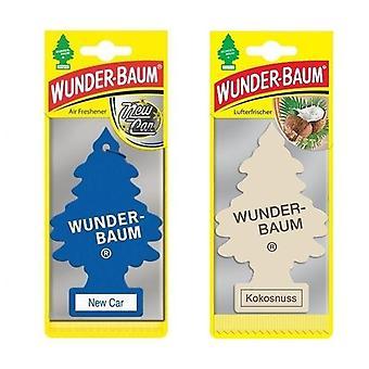 Wunder-Baum Spruce Perfumado (Novo Carro + Coco) 2-Pack