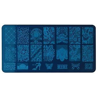 Modelo de selo nail art - Flor, Butterfly Image Plate Nail Stamping Manicure