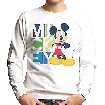Disney Mickey Mouse pose mænd ' s sweatshirt