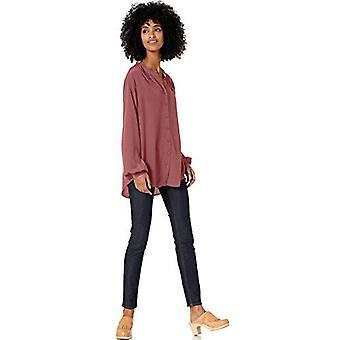العلامة التجارية - Goodthreads المرأة & ق فيسكوز الأكمام الفائدة قميص, روان روج ...