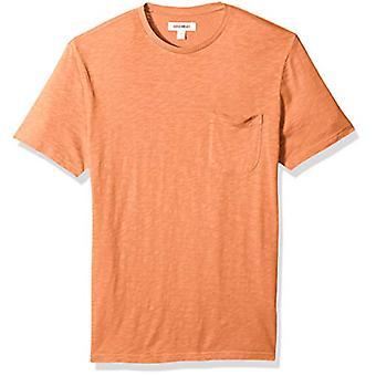 Merk - Goodthreads Men's Lightweight Slub Crewneck Pocket T-shirt, Ru...