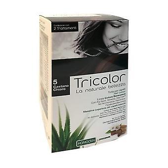 Tricolor haarkleur - Lichtbruin 5 80 ml