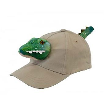 Youth Size Crocodile Cap (Khaki)