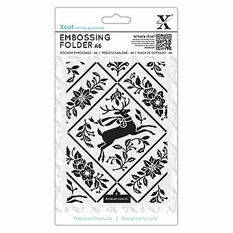 Xcut A6 Embossing Folder Stag and Ivy