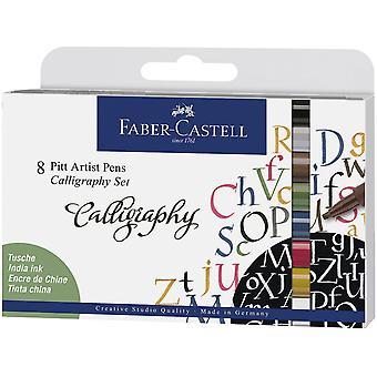 Faber Castell Ritning Penna Pitt Artist Set Kalligrafi (8st) (FC-167508)