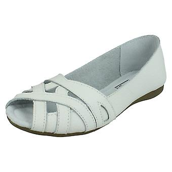Ladies Down To Earth Peep Toe Casual Shoes F00328