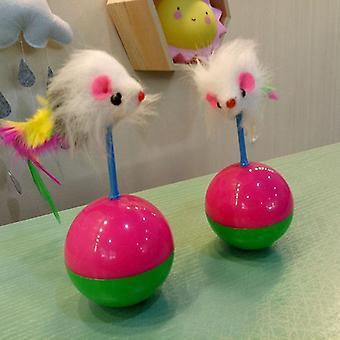 Durable Fur Mouse Plastic Ball Tumbler Kitten Cat Toys