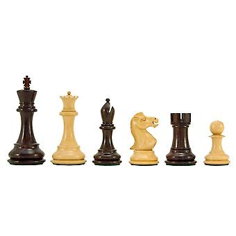 Sicilian Series Rosewood and Boxwood Chess Pieces 3.75 Inches