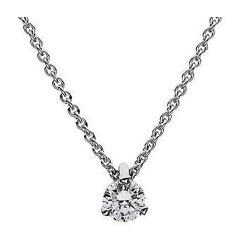Diamant Collier Collier-18K 750/-witgoud-0,25 CT.