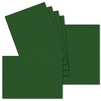 Syvänvihreä. 210mm x 297mm. A5 (Pitkä reuna). 235gsm taitettu kortti tyhjä.