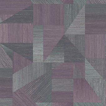 Laronda Geometric Wallpaper Plum Holden 65752