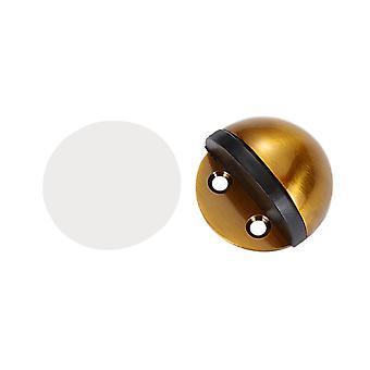 Floor Round Stainless Steel Door Stopper Gold