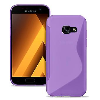 Mobile PhoneShell in voor Samsung Galaxy A5 (2017) Rubber Ultra dun Patroon Paars