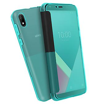 Back Cover for Wiko Y61 Original Easy touch smart cover - Blue