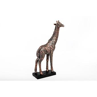 Bronzen Effect Giraffe Beeldje Ornament 37cm hoog