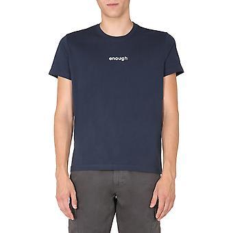 Aspesi Ay49a33501098 Men'camiseta azul algodão