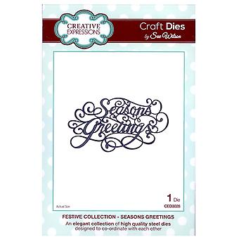 Craft Die CED3028 Sue Wilson Collection festive - Season-apos;s Salutations