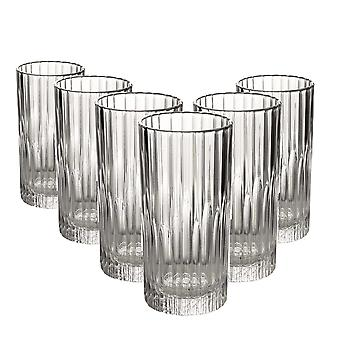 Duralex Manhattan Vintage Collins Glasses - 305ml Highball Cocktail Tumblers - Pack de 6