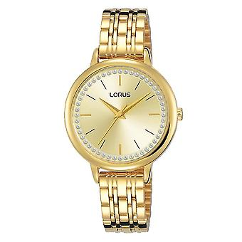 Lorus Ladies Light Gold Rannekoru kello kulta valitsin (malli nro RG202QX9)