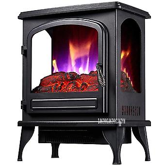 Independent Vertical Electric Fireplace Household Visible Flame Warm Air Blower Single Door Heating