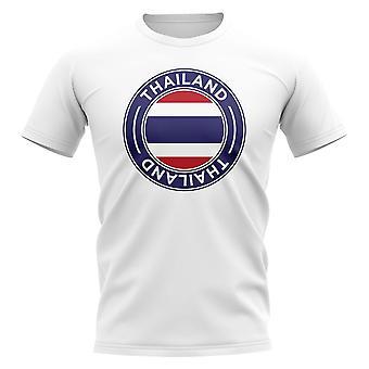 T-shirt thailand football badge (blanc)