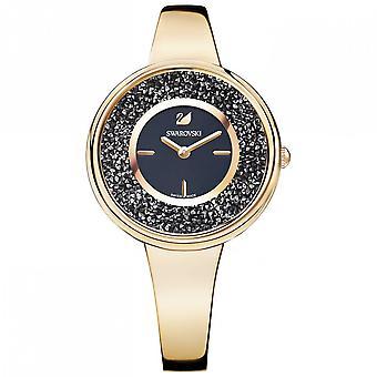 Swarovski kristallijn puur horloge, metalen armband, zwart, Rose Gold Tone 5295334