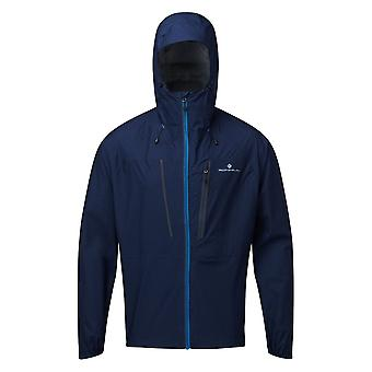 Ronhill Tech Fortify Mens Breathable & Waterproof Running Jacket Deep Navy/powder Grey