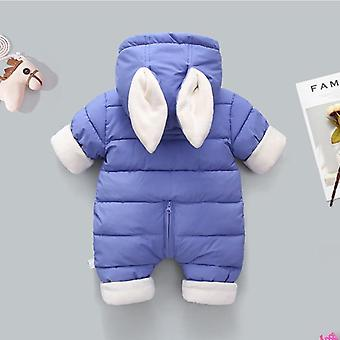 Winter Thicken Children Snowsuit Cotton-padded Baby Girl Clothes Boy Velvet Cute Jumpsuits