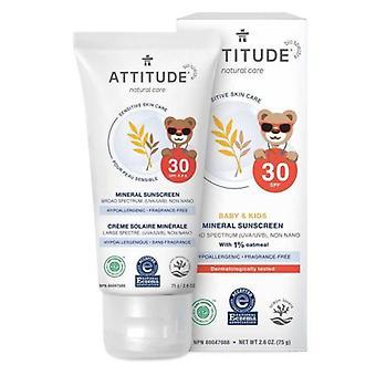 Attitude Følsom hudpleje 100% mineral solcreme, Baby 2,5 Oz