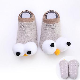 Newborn Baby Socks Big Eyes Cartoon Cotton Winter Warm Socks Outfit 0-3y