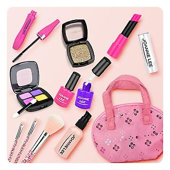 Girl Pretend Play Make Up Toy- Simulation Cosmetics Pink Makeup Set, Princess