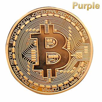 Gold Plated Physical Bitcoins Metal Antique Imitation Cryptocurrency