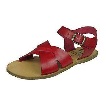 Angela Brown Brogan Girls Leather Sandals - Raspberry