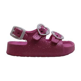 Kids Kenneth Cole Reaction Girls AQUA LOVE-T Buckle SlingBack Slide Sandals