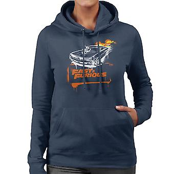 Fast and Furious Dodge Charger Flame Women's Hooded Sweatshirt