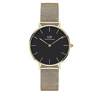 Daniel Wellington DW00100347 Petite Evergold Black Dial Gold Tone Wristwatch
