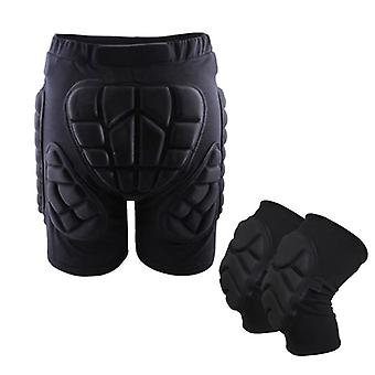 Ski Hip Padded Shorts & Knee Pads, Skiing Skating Snowboarding Impact