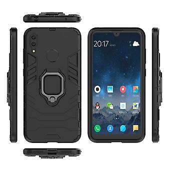 Keysion Huawei P20 Case - Magnetic Shockproof Case Cover Cas TPU Black + Kickstand
