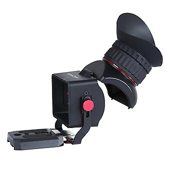 Movo photo vf40 universal 3x lcd video viewfinder with flip-up eyepiece for canon eos, nikon, sony a