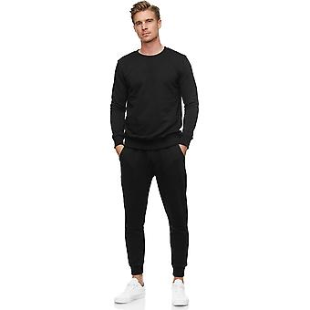 Men Tracksuit Two-piece Set Jogging Pants Sweater Long Sleeve Basic Comfort