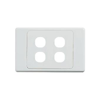 Ultima 4 Gang Switch Cover White