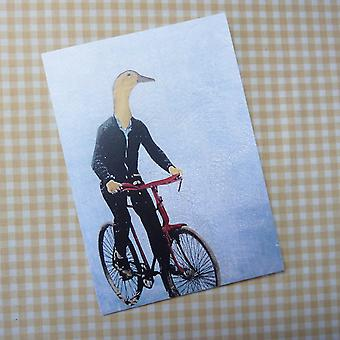 Bicycle Duck Card