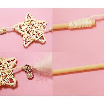 Sepak Takraw Five-pointed Star Fairy Feather Wooden Pole Teasing Cat Stick