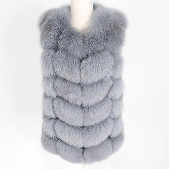 Πραγματικό γούνινο παλτό χειμώνα γνήσια γυναίκες σύντομο τμήμα ζεστό παχύ παλτό γούνα αλεπού