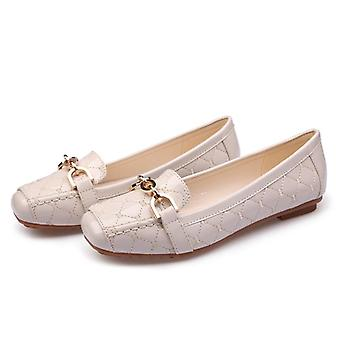 Loafers Women Boat Shoes, Soft Bottom Square Toe Striking Luxury Brand Design