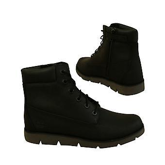 Timberland Radford 6 Zoll wasserdicht schwarz Leder Junior Stiefel A1VYK B47E