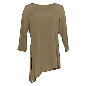 Susan Graver Women's Top Solid Liquid Knit Brown A271462