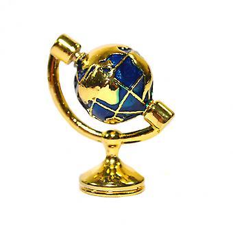 dukker huset liten messing verden skrivebord globe miniatyr studie ornament tilbehør